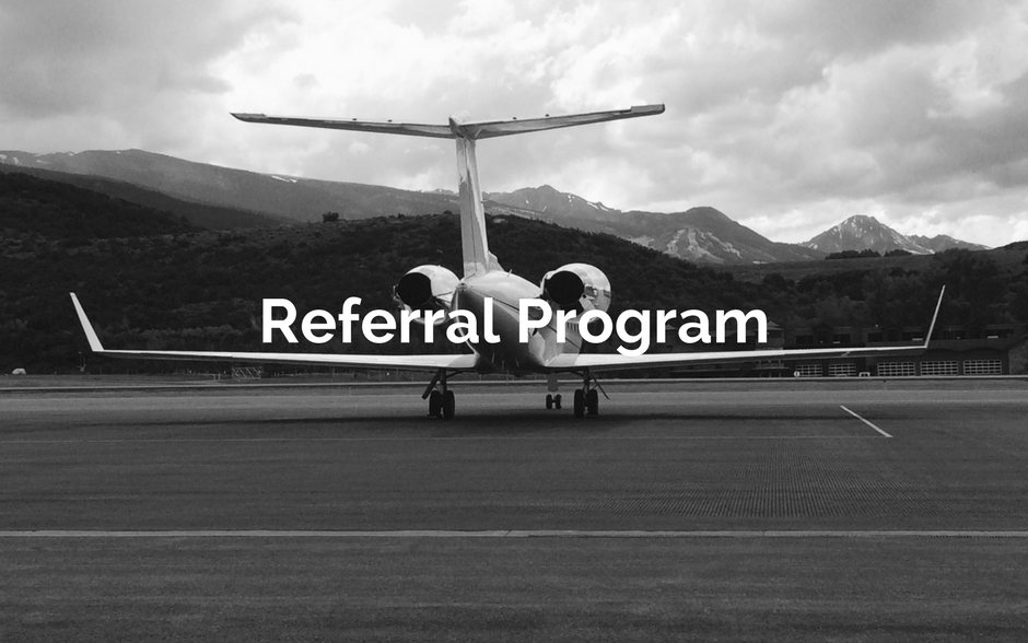 Private Jet Referral Program